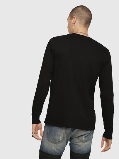 Diesel - T-JUST-LS-DIVISION, Black - T-Shirts - Image 2