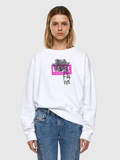 Diesel - F-MAGDA-E40, White - Sweaters - Image 4