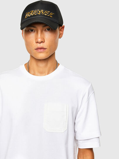 Diesel - T-FONTAL, White - T-Shirts - Image 3