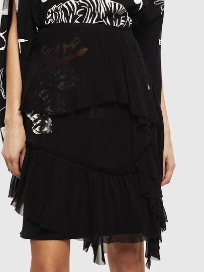 Diesel - O-BURNETT, Black - Skirts - Image 3