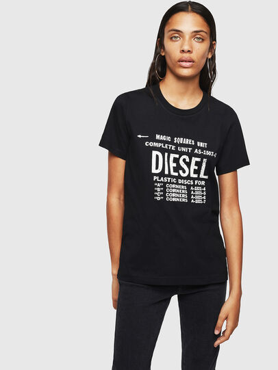 Diesel - T-SILY-ZF, Black - T-Shirts - Image 1