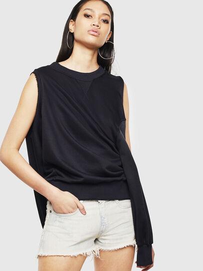 Diesel - F-INVERT, Black - Sweaters - Image 4