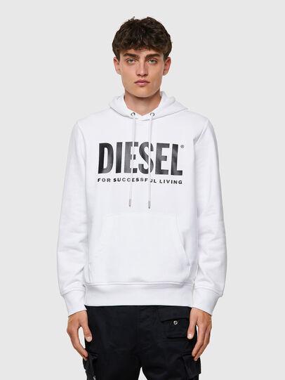 Diesel - S-GIRK-HOOD-ECOLOGO, White - Sweaters - Image 1