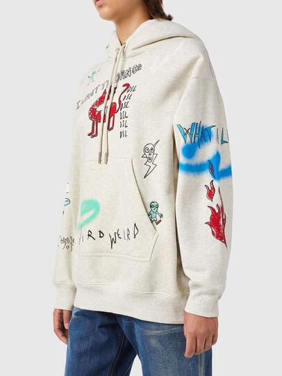 Diesel - F-EXA-HOOD-B2, Light Grey - Sweaters - Image 4