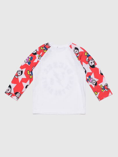 Diesel - TCELLOB, White/Red - T-shirts and Tops - Image 2