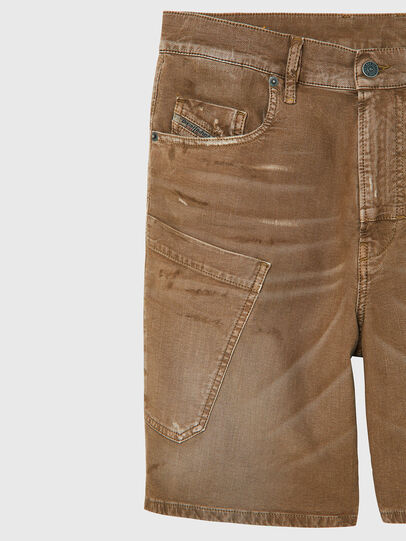 Diesel - D-AZERR-SHORT JOGGJEANS, Brown - Shorts - Image 3