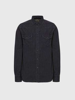 D-EAST-P, Black - Denim Shirts