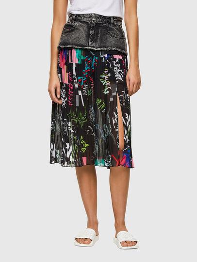 Diesel - O-ZOWIE-PRINT, Black - Skirts - Image 1
