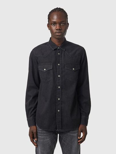 Diesel - D-EAST-P1, Black - Denim Shirts - Image 1