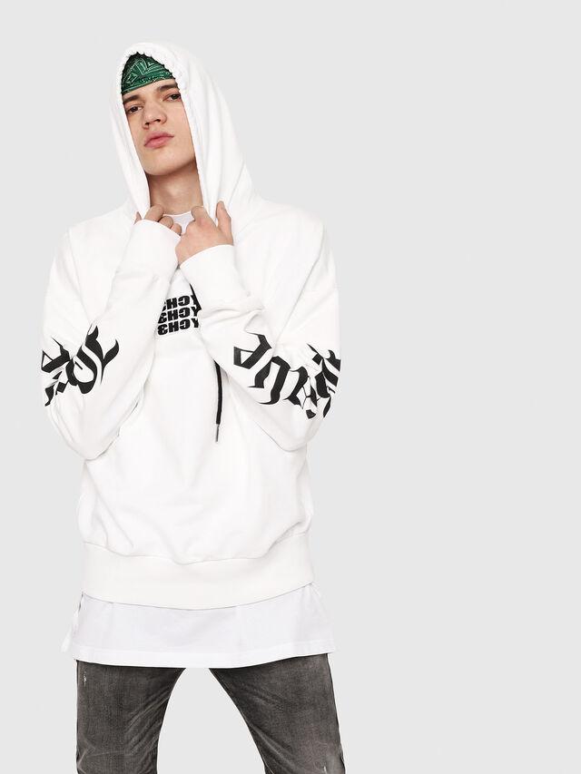 Diesel - S-ALBY-HOOD-Y2, White - Sweaters - Image 1