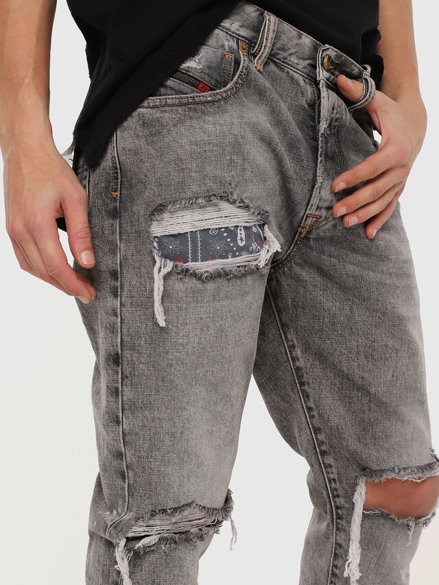 Diesel - Mharky 089AT, Light Grey - Jeans - Image 4