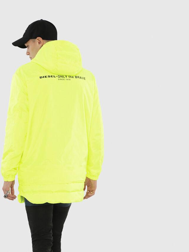 Diesel - W-SUN-REV-A, Yellow Fluo - Winter Jackets - Image 2