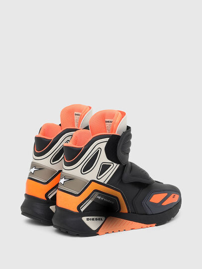 Diesel - ASTARS-SKBOOT, Black/Orange - Sneakers - Image 3