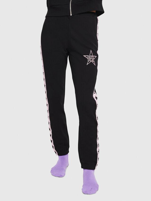 Diesel - UFLB-MARIN, Black/Pink - Pants - Image 1