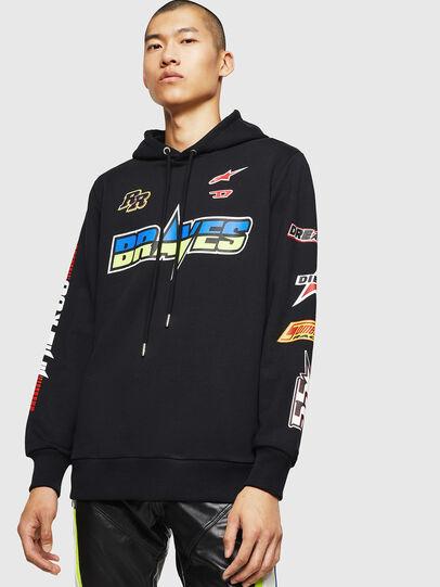 Diesel - ASTARS-S-GIR-HOOD, Black - Sweaters - Image 1