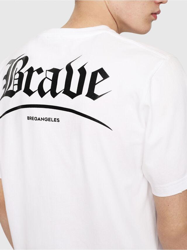 Diesel - T-JUST-Y14, White/Black - T-Shirts - Image 4