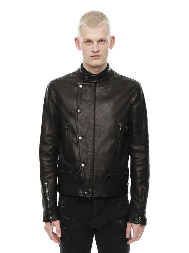Diesel - LAZING, Black - Leather jackets - Image 1