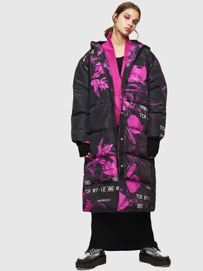 Diesel - W-DORYN-B, Black/Pink - Winter Jackets - Image 1