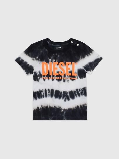 Diesel - TAREZB, Black/White - T-shirts and Tops - Image 1