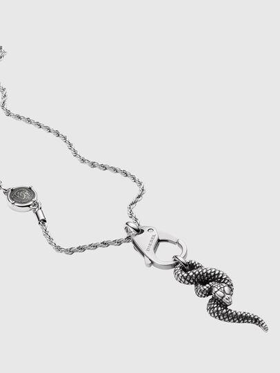 Diesel - DX1278, Silver - Necklaces - Image 2