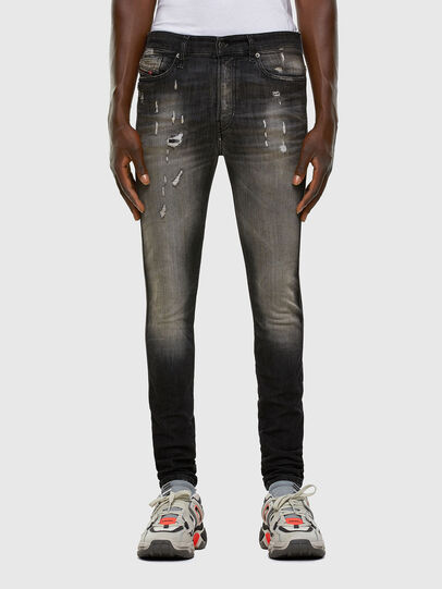 Diesel - D-Reeft JoggJeans 009FX, Black/Dark grey - Jeans - Image 1