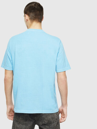 Diesel - T-JUST-NEON-S1, Azure - T-Shirts - Image 3