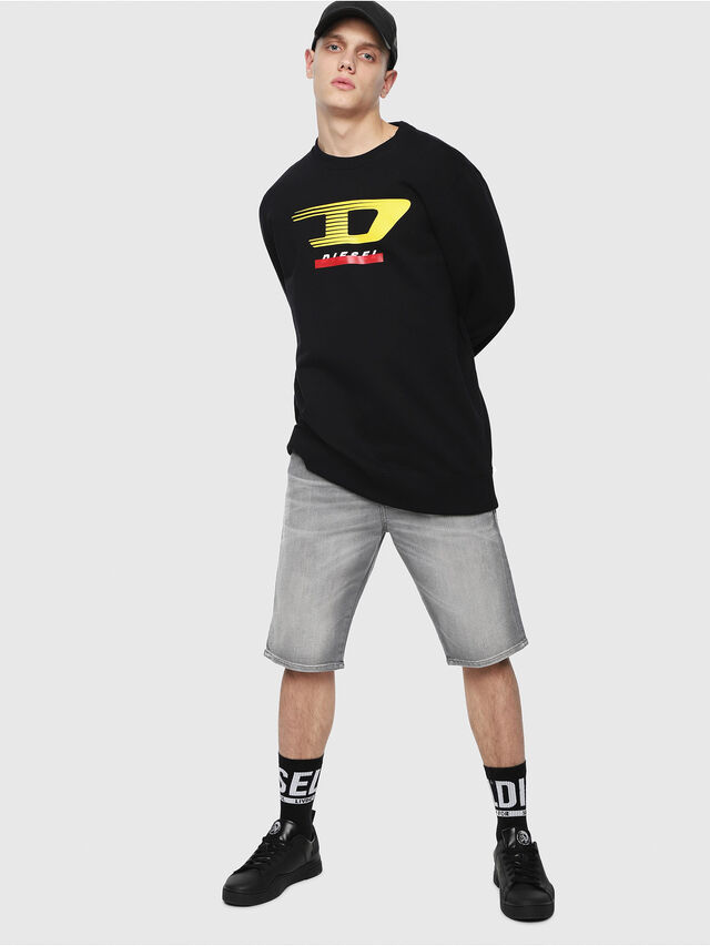 Diesel THOSHORT, Grey Jeans - Shorts - Image 4