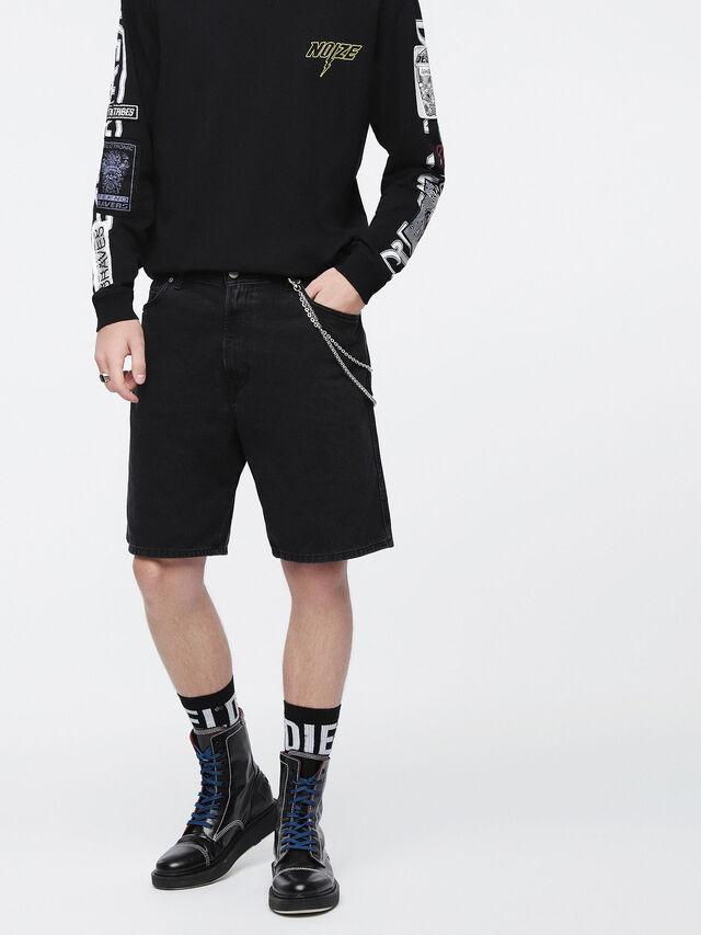 Diesel - D-WILLOH, Black - Shorts - Image 1