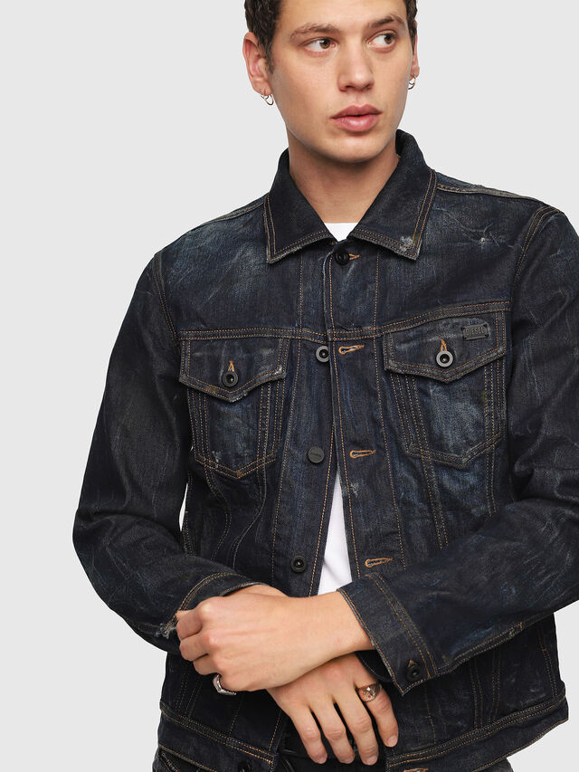 Diesel - CL-NHILL, Dark Blue - Denim Jackets - Image 3