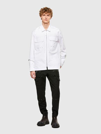 Diesel - S-KULT, White - Shirts - Image 5