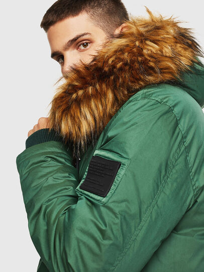 Diesel - W-BULLISK, Dark Green - Winter Jackets - Image 8