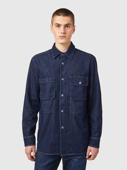 Diesel - D-WORKY-SP, Blue - Denim Shirts - Image 1