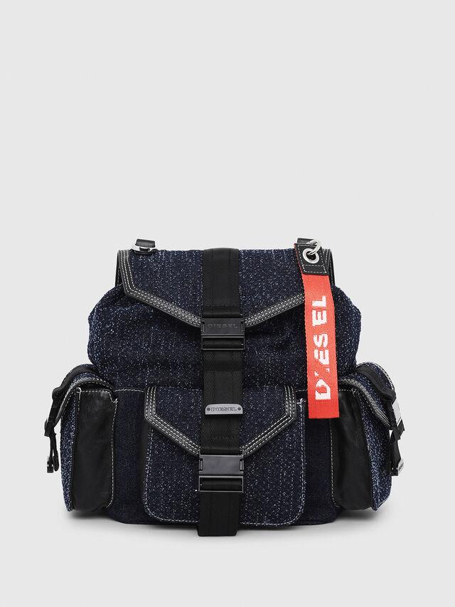 Diesel - MISS-MATCH BACKPACK, Blue Jeans - Backpacks - Image 1