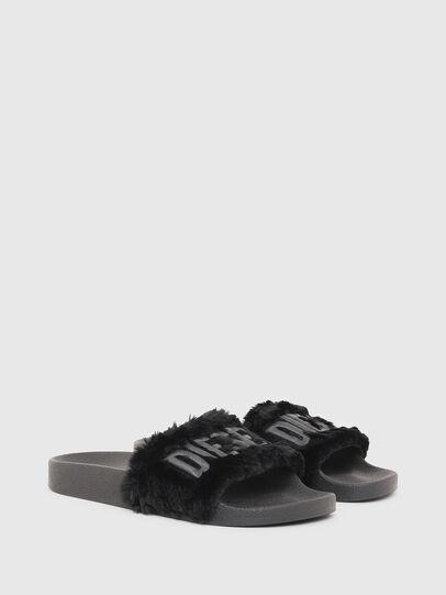Diesel - SA-VALLA R W, Black - Slippers - Image 2