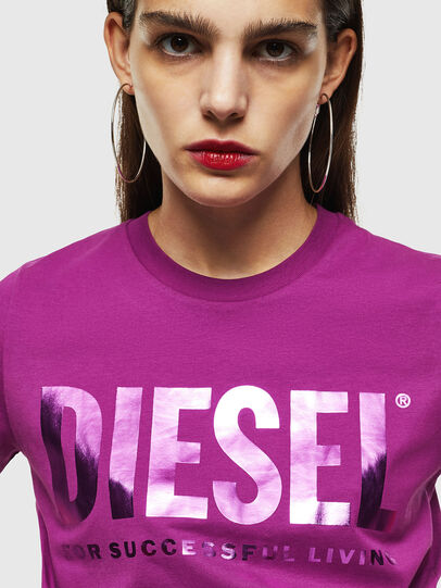 Diesel - T-SILY-WX, Violet - T-Shirts - Image 3