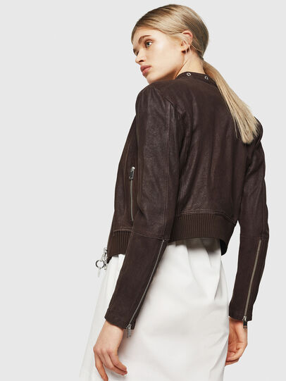 Diesel - L-LYSSA-G, Brown - Leather jackets - Image 2