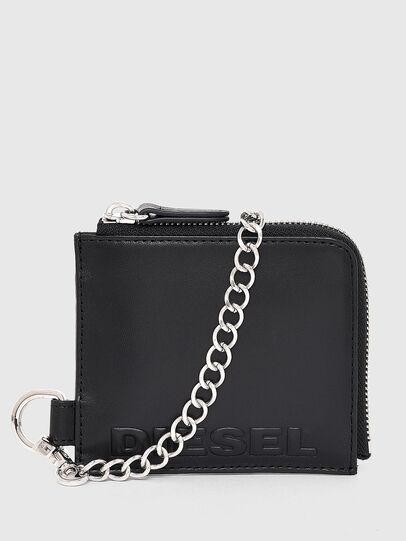 Diesel - L-ZIP CHAIN, Black - Zip-Round Wallets - Image 3