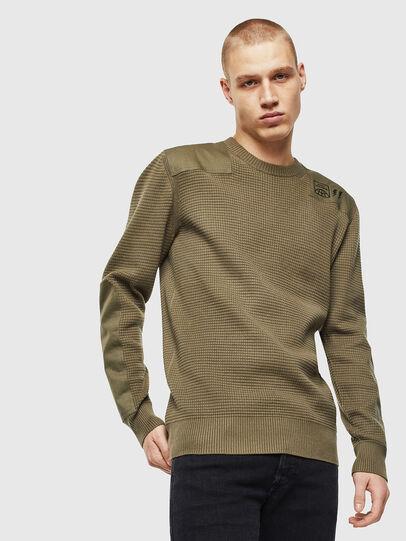 Diesel - K-LESTER, Military Green - Knitwear - Image 1
