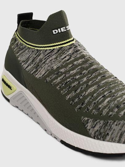 Diesel - S-KB ATHL SOCK II, Olive Green - Sneakers - Image 4
