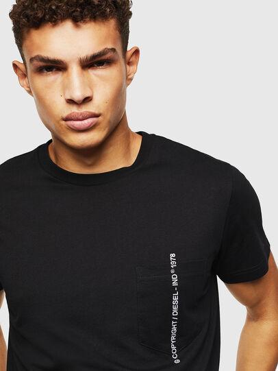 Diesel - T-RUBIN-POCKET-J1, Black - T-Shirts - Image 3