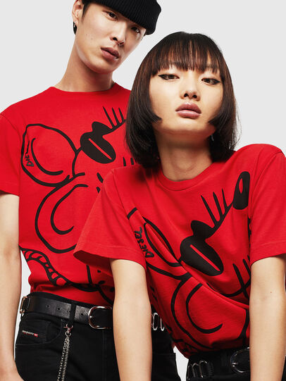 Diesel - CL-T-DIEGO-2, Red - T-Shirts - Image 4