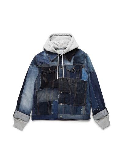 Diesel - D-OWNHILL55, Medium blue - Denim Jackets - Image 1