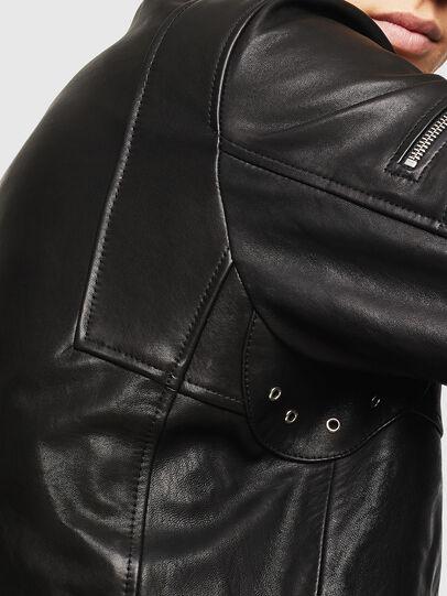 Diesel - L-TOVMAS, Black - Leather jackets - Image 5
