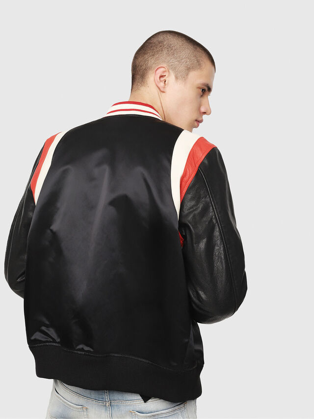 Diesel - L-HARU, Black/Red - Leather jackets - Image 2