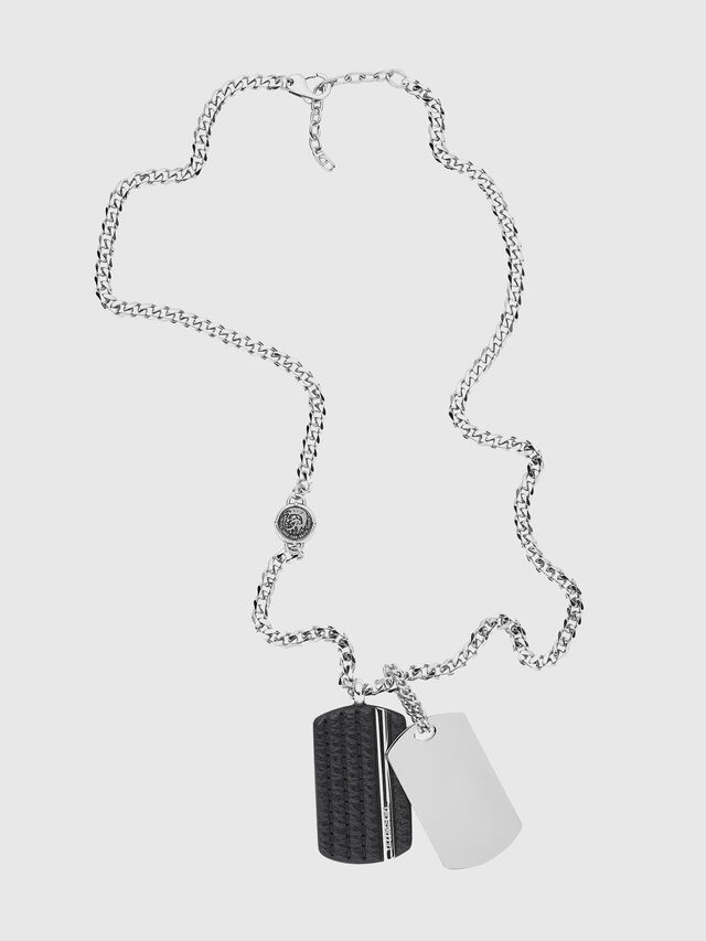 Diesel NECKLACE DX1040, Silver - Necklaces - Image 1