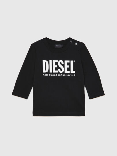 Diesel - TJUSTLOGOB ML, Black - T-shirts and Tops - Image 1