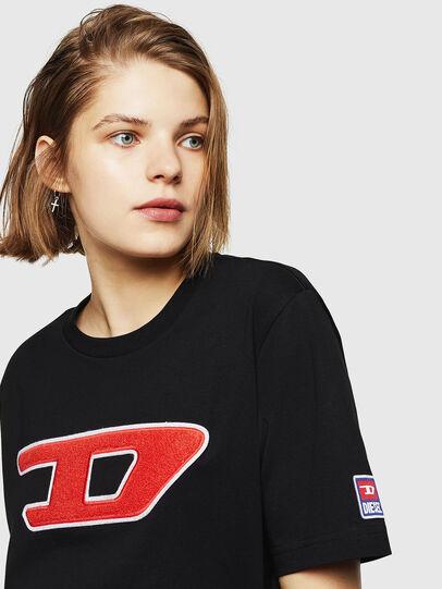 Diesel - T-JUST-DIVISION-D-FL, Black - T-Shirts - Image 3