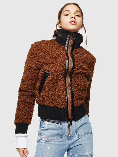 Diesel - L-TOSHA, Brown - Leather jackets - Image 1