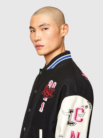 Diesel - CL-L-COHEN-O, Black - Leather jackets - Image 5