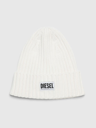 Diesel - K-CODER-E, White - Knit caps - Image 1